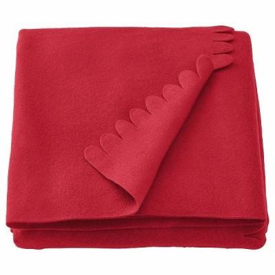 IKEA イケア ひざ掛け レッド 赤 130x170cm n20479038 POLARVIDE ポーラヴィーデ