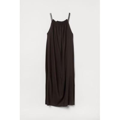H&M - リヨセルブレンドワンピース - ブラウン