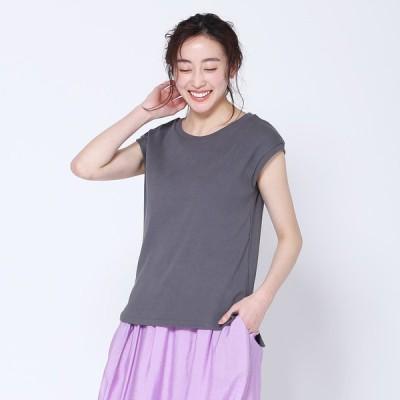 国産 JapanMade レディース フリーサイズ 綿100% 無地 シンプル おしゃれ かわいい | クルーネックノースリーブTシャツ  KEYUCA(ケユカ) (グッドプライス)