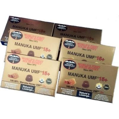 ニュージーランド産 UMF15+ マヌカハニーロゼンジ 固形のど飴 6箱 ハニージャパン社製