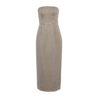 J.MENDEL 7分丈ワンピース・ドレス カーキ 10 シルク 61% / ナイロン 21% / レーヨン 18% 7分丈ワンピース・ドレス