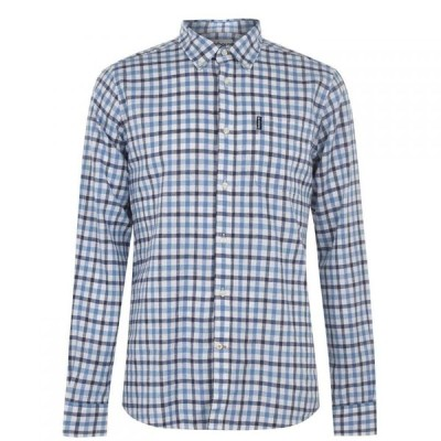 バブアー Barbour メンズ シャツ トップス Linen Mix Shirt Blue BL