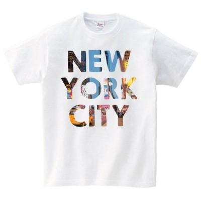 タイムズスクエア アメリカ Tシャツ メンズ レディース 半袖 アメカジ シンプル ゆったり おしゃれ 大きいサイズ 綿100% 160 S M L XL