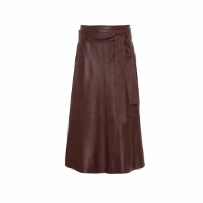 ヴィンス Vince レディース ひざ丈スカート スカート Leather midi skirt