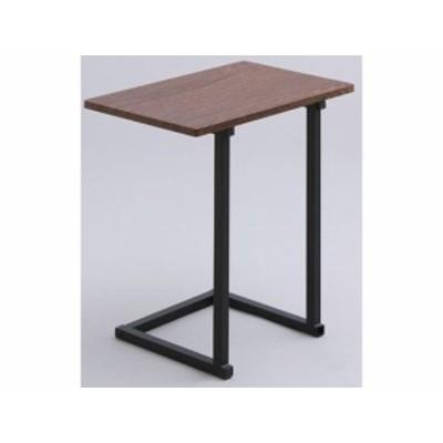 サイドテーブル 幅450 ブラウンオーク/ブラック アイリスオーヤマ SDT-45