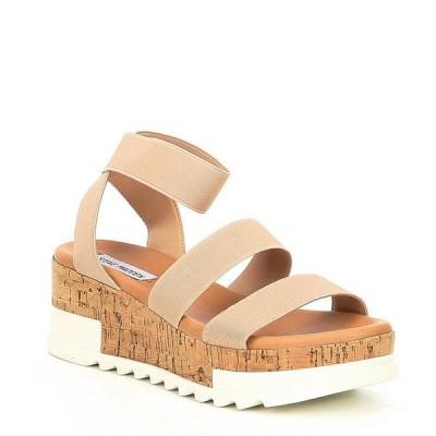 スティーブ マデン レディース サンダル シューズ Bandi Elastic Cork Flatform Sandals Blush