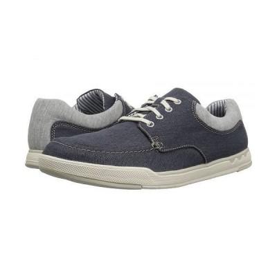 Clarks クラークス メンズ 男性用 シューズ 靴 スニーカー 運動靴 Step Isle Lace - Navy Canvas