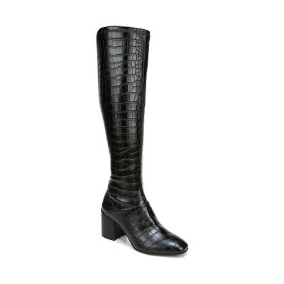 フランコサルト ブーツ&レインブーツ シューズ レディース Tribute High Shaft Boots Black Crocco Faux Leather