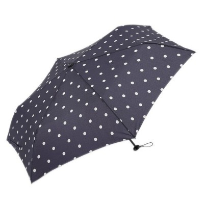 雨傘 日傘 折り畳み傘 コンパクト UVカット シンプル おしゃれ かわいい  折畳傘 晴雨兼用 軽量 50cm ポルカドット ネイビーブルー  KEYUCA(ケユカ)