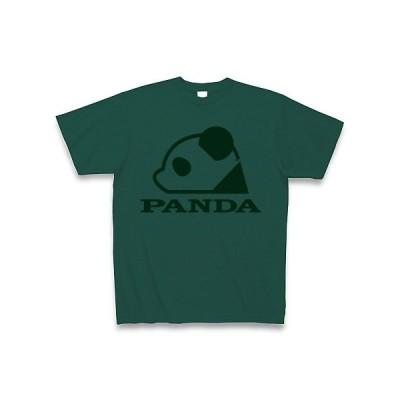 パンダロゴ(緑) Tシャツ(ディープグリーン)
