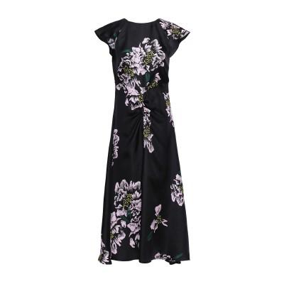 PAPER London 7分丈ワンピース・ドレス ブラック 10 シルク 100% 7分丈ワンピース・ドレス