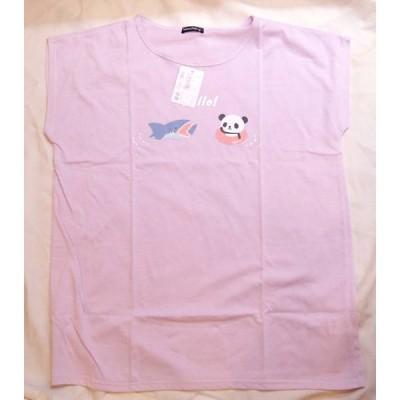 パンダ ボックス型 Tシャツ 大人用 TPA005-1B パープル