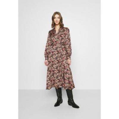 スコッチアンドソーダ ワンピース レディース トップス BELTED MIDI LENGTH WRAP DRESS - Day dress - metallic red