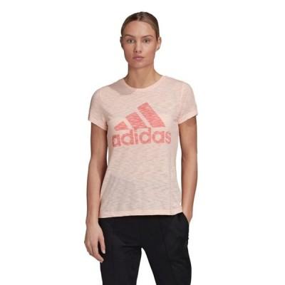 アディダス レディース シャツ トップス adidas Training winners logo t-shirt in peach