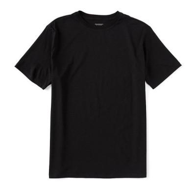 ランドツリーアンドヨーク メンズ Tシャツ トップス Soft Washed Short-Sleeve Solid Crew Neck Tee Black