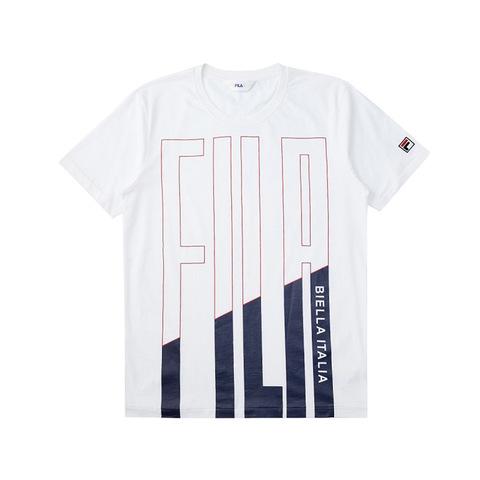 FILA 圓領T恤(合身版)-白色 1TEV-1519-WT