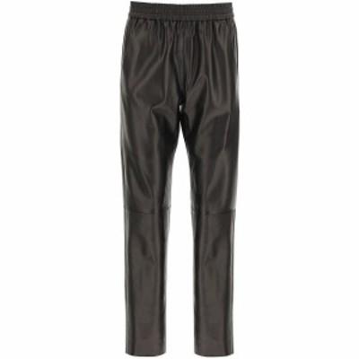DROME/ドローメ Brown Drome leather jogging trousers レディース 春夏2021 DPD1998P D400P ik