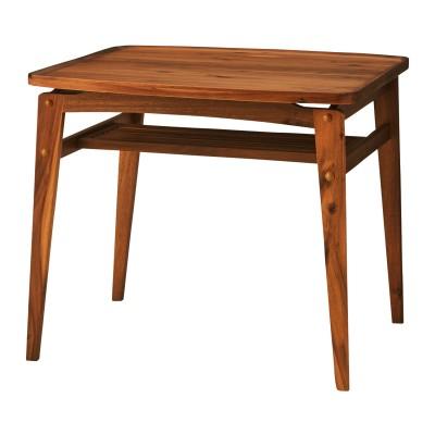 ヴィンテージ風2人掛け棚付きダイニングテーブル<2人用>