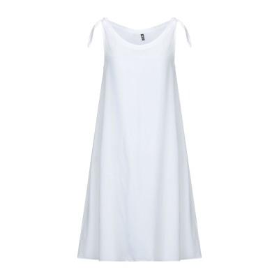 EUROPEAN CULTURE ミニワンピース&ドレス ホワイト XS 100% キュプラ ミニワンピース&ドレス