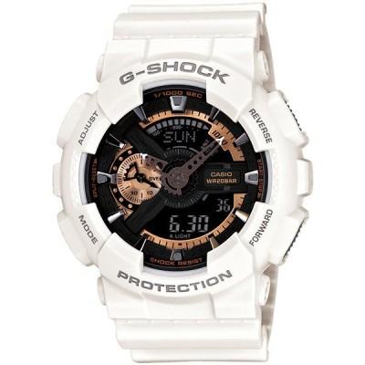 カシオ Gショック G-SHOCK ジーショック メンズ 20気圧防水 アナログ デジタル アナデジ メタリック ホワイト 海外モデル GA-110RG-7A あすつく 腕時計