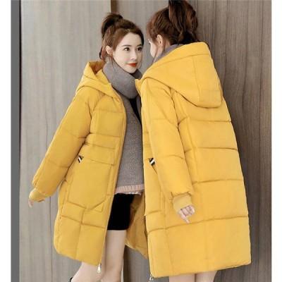 中綿ジャケット レディース ロング丈 体型カバー フード付き 冬 防寒 防風