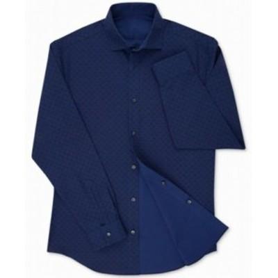 Calvin Klein カルバンクライン ファッション ドレス Calvin Klein NEW Blue Mens Size 16 1/2 Extreme Slim-Fit Dress Shirt