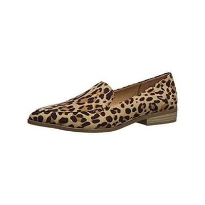 Dr. Scholl's Shoes Women's Astaire Loafer, Tan/Black Leopard Microfiber, 6