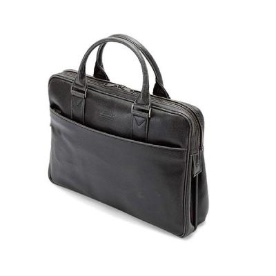 平野 日本製 豊岡製鞄 ブリーフケース ビジネスバッグ 白化合皮 #26624 B4サイズ ブレリアス BRELIOUS 40cm 黒