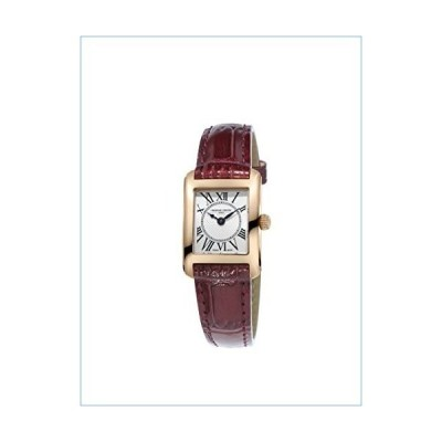 Frederique Constant Women's Carree Stainless Steel Swiss-Quartz Watch with Leather Calfskin Strap, Brown, 15 (Model: FC-200MC14)並行輸入品