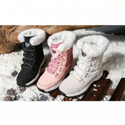 レディーズスノーシューズ スノーブーツ 防寒 防滑 防水 カジュアル 防寒ブーツ 雪靴 防寒靴 ムートンブーツ 軽量 スノーブーツ ショート スノーシューズ
