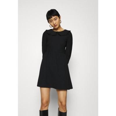 ドロシーパーキンス レディース ファッション FOCHETTE COLLARED LONG SLEEVE DRESS - Day dress - black