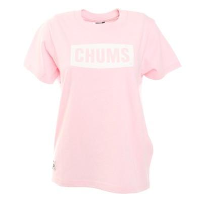 チャムス ロゴ半袖Tシャツ CH11-1833-R018 アウトドア カジュアル かわいいピンクM