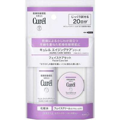【トライアルセット】キュレル エイジングケア (化粧水30ml+クリーム10g)