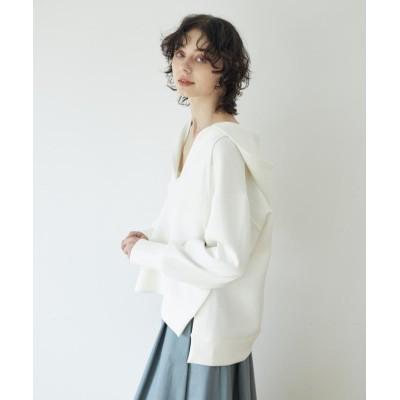 【クリアインプレッション】 《musee》ダンボールフーディープルオーバー レディース ホワイト 00 CLEAR IMPRESSION