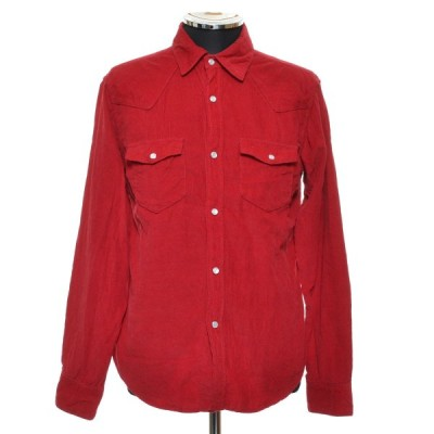 MIND BLOW マインドブロウ コーデュロイシャツ ロングスリーブ 長袖 サイズ02 メンズ レッド