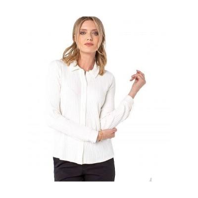 Liverpool ライブプール レディース 女性用 ファッション セーター Button-Down Rib Knit Blouse - Snow