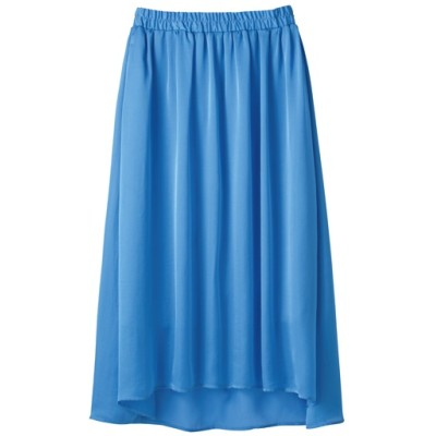 フィッシュテールスカート/ブルー/L