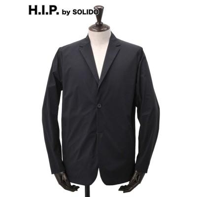 H.I.P. by SOLIDO hipエイチアイピー ソリード メンズナイロンジャケット パッカブル  2つボタンシングル ブラック シワになりにくい 国内正規品 ブランド