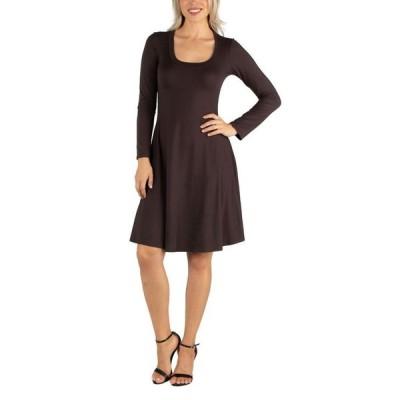24セブンコンフォート レディース ワンピース トップス Women's Long Sleeve Flared T-Shirt Dress