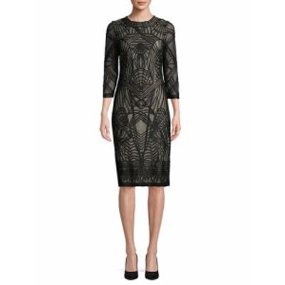 JS コレクションズ レディース ワンピース Patterned Stripe Knee-Length Dress