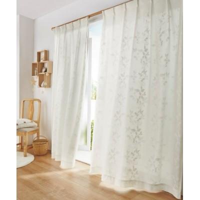 明るい光と風をほどよく通す遮熱・24時間見えにくい・UVカットレースカーテン レースカーテン・ボイルカーテン, Curtains, sheer curtains, net curtains(ニッセン、nissen)