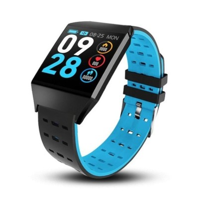 Letike スマートウォッチ 防水 心拍数モニター 血圧 マルチスポーツモード Blue