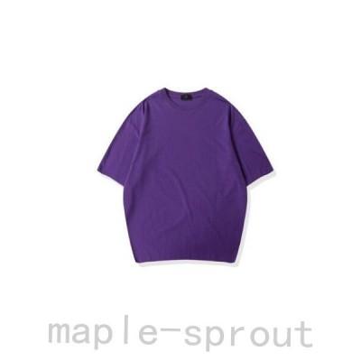 Tシャツ メンズ ユニセックス レディース ペアルック tシャツ メンズ 半袖 カットソー 春 夏 ロンT 無地 トップス おしゃれ オーバーサイズ コットン