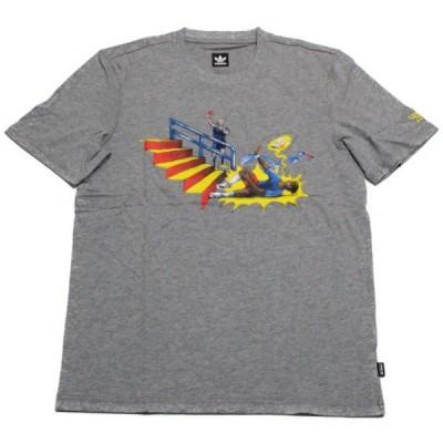 アディダス オリジナルス スケートボーディング × ヤイア ピッチド Tシャツ 灰 CF3122 ADIDAS SKATEBOARDING PITCHED TEE YAIA 新品