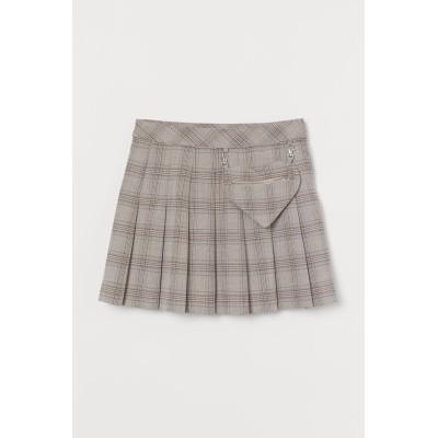 H&M - プリーツスカート - グレー
