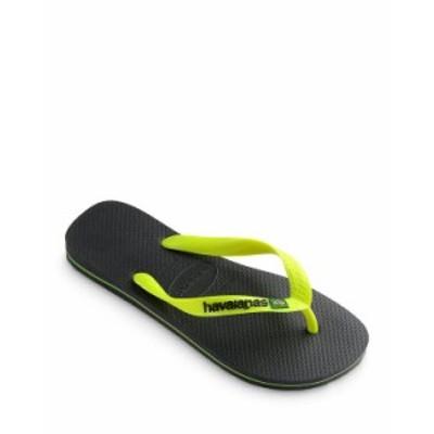 ハワイアナス メンズ サンダル シューズ Men's Brazil Logo Flip-Flops New Graphite
