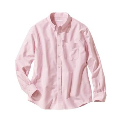 お腹ゆったり綿100%オックス長袖ボタンダウンシャツ カジュアルシャツ, Shirts,