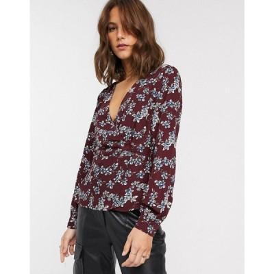 ヴィラ Vila レディース ブラウス・シャツ トップス floral wrap blouse