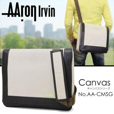 ショルダーバッグ メンズ 帆布 軽量 ブランド Aaron Irvin アーロン・アーヴィン Canvas キャンバス 斜めがけバッグ メンズショルダーバッグ 送料無料