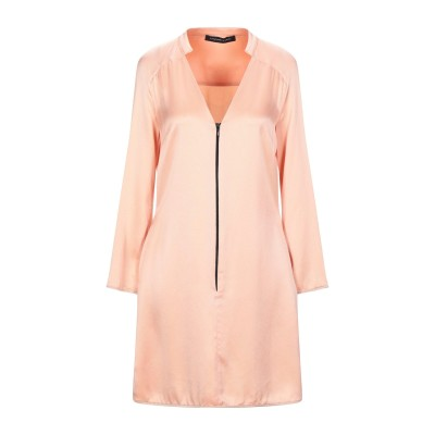 FRANCESCA PICCINI ミニワンピース&ドレス サーモンピンク 42 アセテート 75% / レーヨン 25% ミニワンピース&ドレス